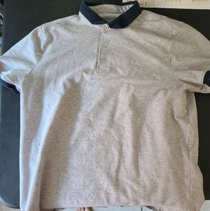Men's Five Four Casual Polo, Gray, Size Large